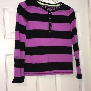 Justice-Girls Shirt-NWT-Size 10-Purple&Black
